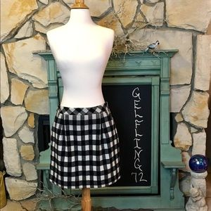 Club Monaco Wool Blend Buffalo Check Skirt